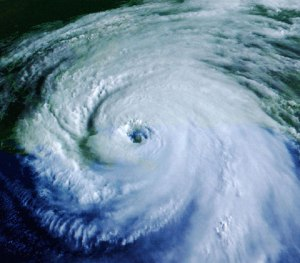 Eye of hurricane Katrina